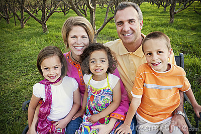 Beautiful Multi-racial Family