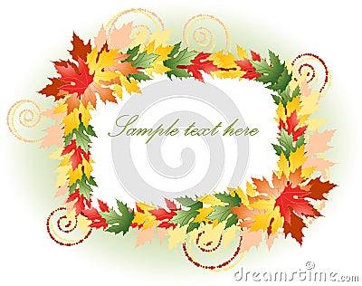 Beautiful multicoloured floral frame