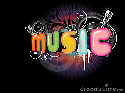 Beautiful Music Background Royalty Free Stock Photography