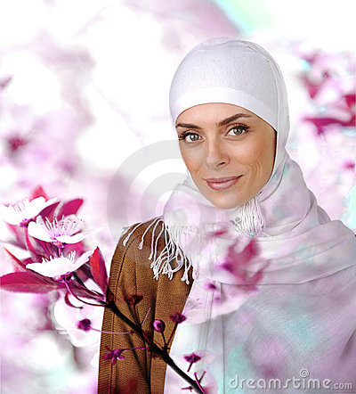 Beautiful Muslim positive woman