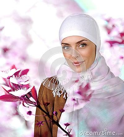 Beautiful Muslim positive woman