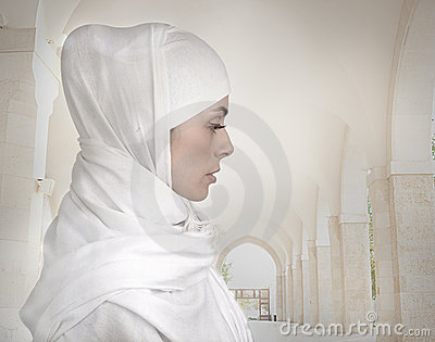 Beautiful Muslim woman isolated