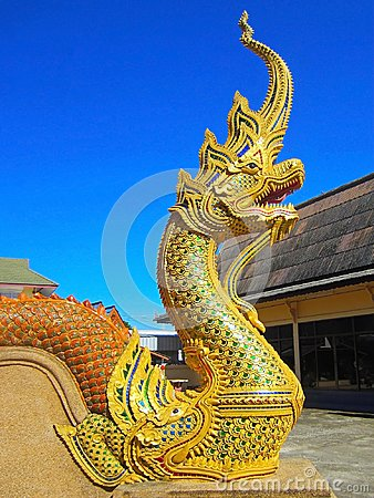 Free Beautiful Naga Statue At The Temple Royalty Free Stock Photos - 107925078