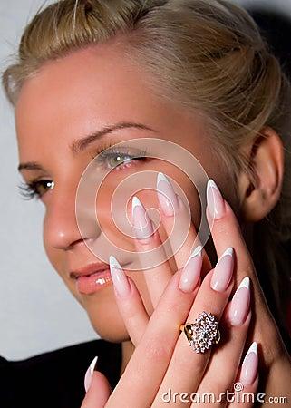 Beautiful nails with Art, false eyelashes