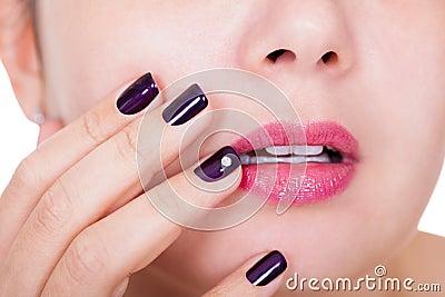 Beautiful nails and lips