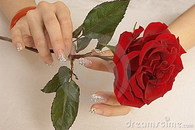 Beautiful nails and roses