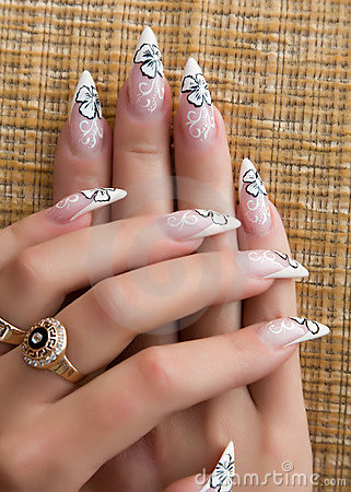 Free Beautiful Nails With Art Stock Photos - 14456803