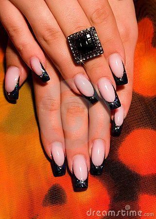 Free Beautiful Nails With Art Stock Images - 14456824