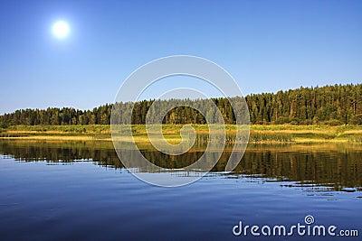 Beautiful nature on the river Chusovaya