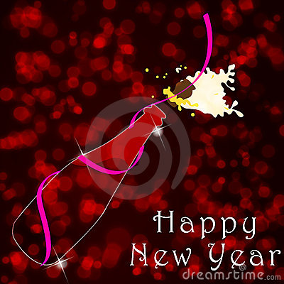 Beautiful New Year s Illustration