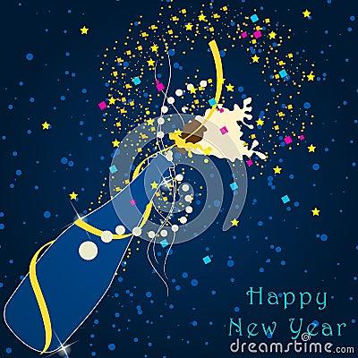 Beautiful New Year s Illustration