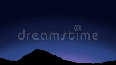 Beautiful Night Sky With Shooting Stars Animation Stock Footage