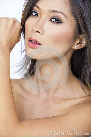 Free Beautiful Nude Asian Chinese Woman Girl Royalty Free Stock Images - 36498219