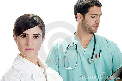 Beautiful nurse with handsome doctor