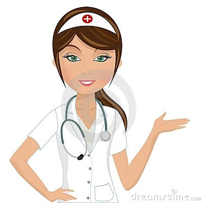 Free Beautiful Nurse Presenting Royalty Free Stock Photography - 23282197
