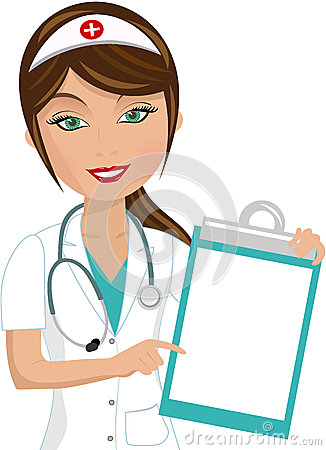 Free Beautiful Nurse Showing Folder Royalty Free Stock Photos - 35592288