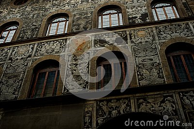 Beautiful old house facade