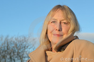 A beautiful older lady in her sixties