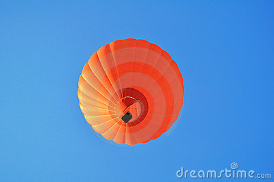 Beautiful orange hot air balloon