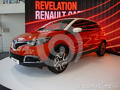Beautiful Orange Renault Editorial Stock Photo