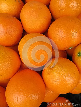 Beautiful oranges from an incredible color and a delicious flavor Stock Photo