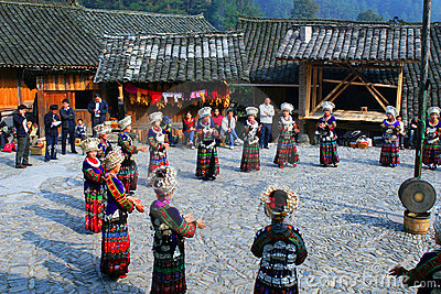 Beautiful original villages in Guizhou, China Editorial Stock Image