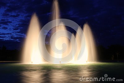 Beautiful outdoor fountains