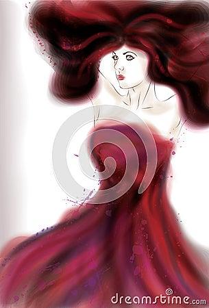 Beautiful painted woman