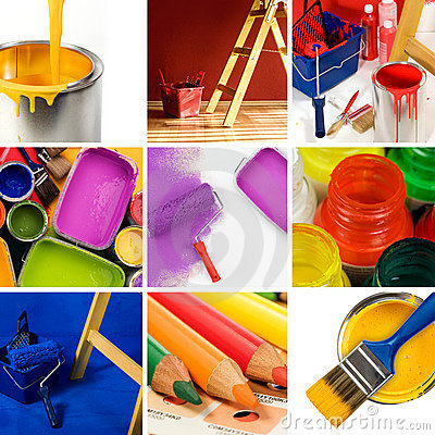 Free Beautiful Painting Collage Stock Images - 8085074