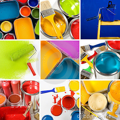 Free Beautiful Painting Collage Royalty Free Stock Photos - 8085108