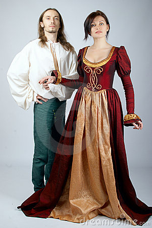 Beautiful pair of medieval costumes