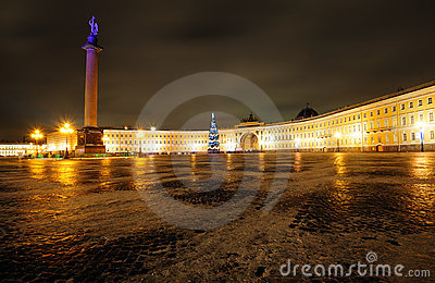Beautiful Palace square in Saint Petersburg