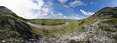 Beautiful panorama of moldavian landscape