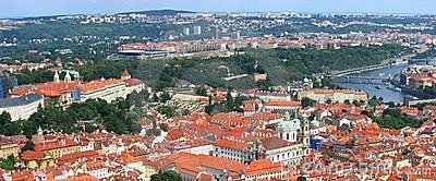 Beautiful Panorama of Prague City