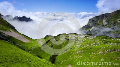 Beautiful panoramic view of mountains in Germany stock video footage