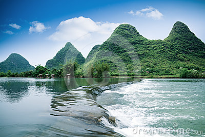 Beautiful pastoral scenery in yangshuo