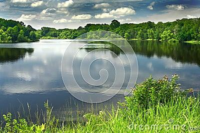 A beautiful and peaceful lake