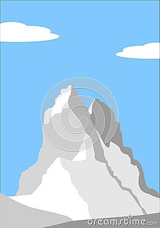 Beautiful peak in Alps