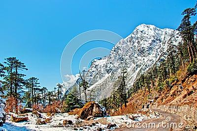 Beautiful peaks of Himalayas