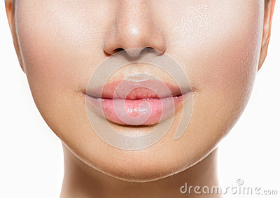 Beautiful Perfect Lips Stock Photo
