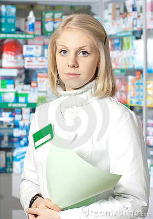 Beautiful pharmacist.