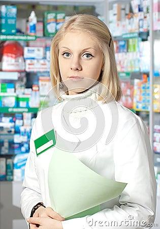 Beautiful pharmacist.