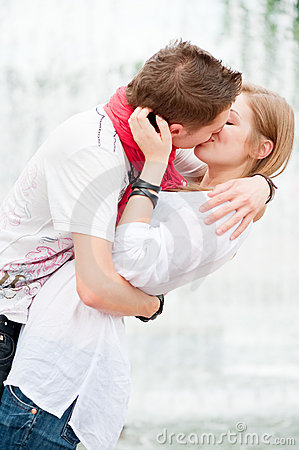 Beautiful picture of kissing couple