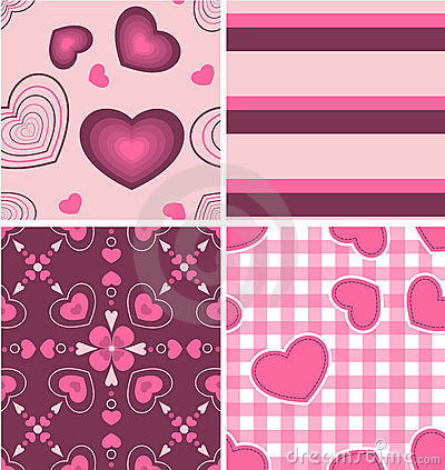 Free Beautiful Pink Color Pattern Combo Royalty Free Stock Photo - 17777285