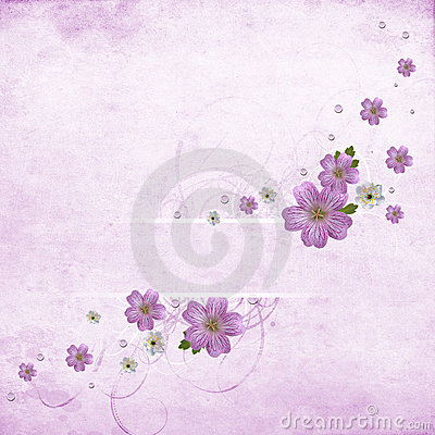 Beautiful pink floral banner