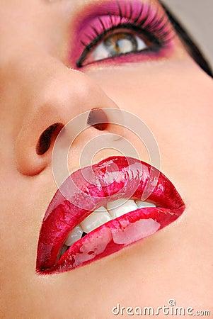 Free Beautiful Pink Lips Stock Image - 2242641