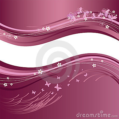 Beautiful pink & white floral banners