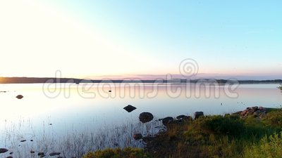 Beautiful place by the lake stock footage