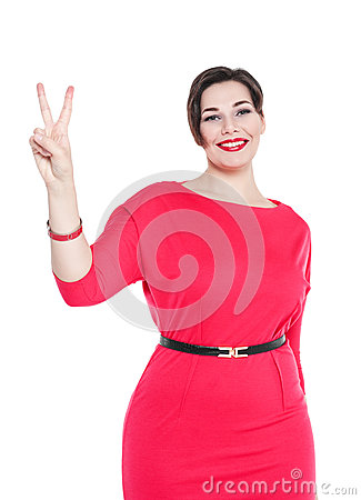 http://thumbs.dreamstime.com/x/beautiful-plus-size-woman-red-dress-victory-isolated-white-background-53420661.jpg