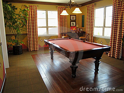 Beautiful Pool Table and Game Room
